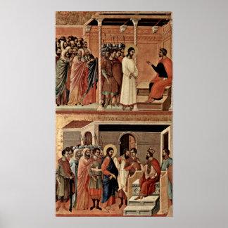 Duccio di Buoninsegna - Cristo antes de Pilate Impresiones