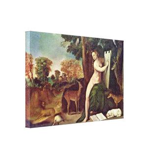 Duccio di Buoninsegna - Cristo aparece Magdalena Lona Estirada Galerías