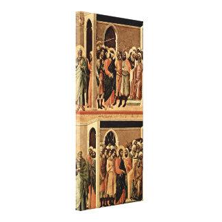 Duccio di Buoninsegna - Mocking of Christ Canvas Print