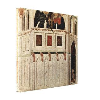 Duccio di Buoninsegna - Temptation of Christ Stretched Canvas Print