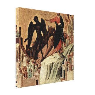 Duccio di Buoninsegna - Temptation of Christ Canvas Print