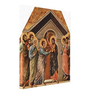 Duccio di Buoninsegna - The Doubting Thomas Gallery Wrapped Canvas
