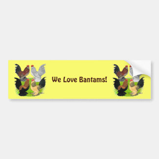 D'Uccles Four Roosters Car Bumper Sticker