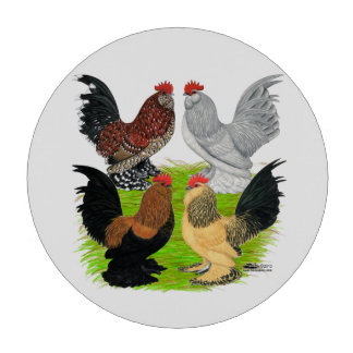 D'Uccles Four Roosters Set Of Poker Chips