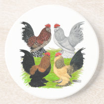 D'Uccles Four Roosters Sandstone Coaster