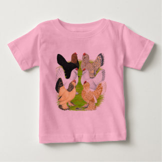 D'Uccles Six Hens Baby T-Shirt