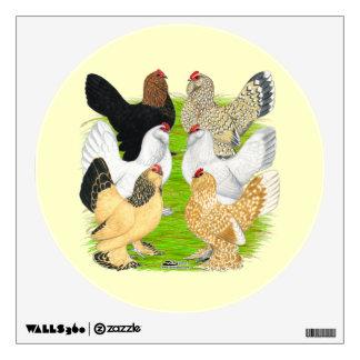 D'Uccles Six Hens Wall Sticker