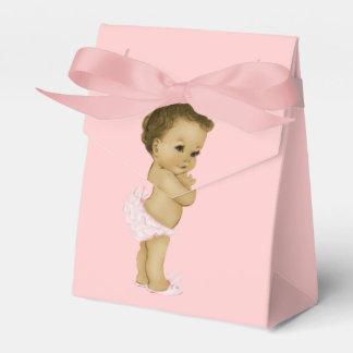 Ducha afroamericana de la princesa rosada niña cajas para regalos de fiestas