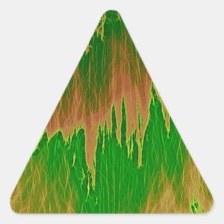ducha anaranjada verde pegatina triangular