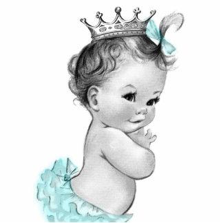 Ducha azul de la princesa niña del trullo del vint esculturas fotograficas