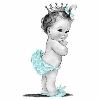 Ducha azul de la princesa niña del trullo del vint escultura fotográfica