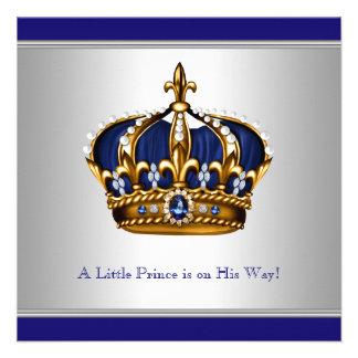 Ducha azul de plata del bebé del Príncipe heredero Anuncio