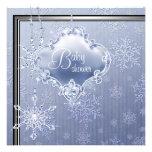 Ducha azul de plata elegante del bebé del copo de  invitaciones personales