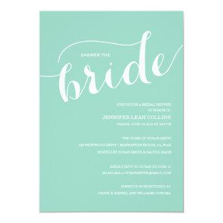 Ducha azul de Tiffany la invitación de la novia Invitación 12,7 X 17,8 Cm