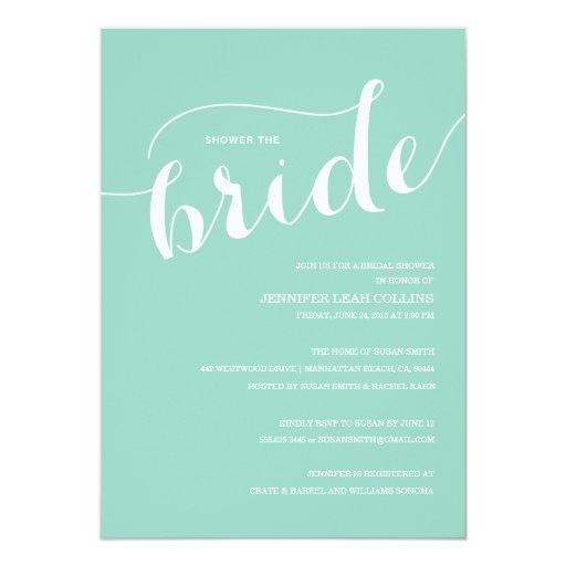 Ducha azul de Tiffany la invitación de la novia