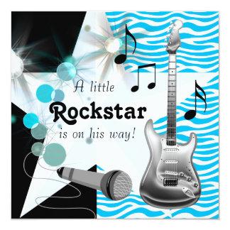 Ducha azul del bebé de la estrella del rock de la comunicado