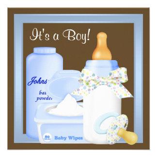 Ducha azul del bebé del pacificador de la botella anuncios personalizados