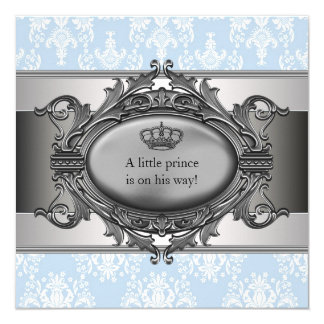 Ducha azul del príncipe bebé del damasco