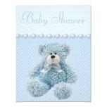 Ducha azul linda del bebé del oso de peluche comunicado personal