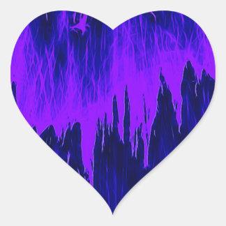 Ducha azul pegatina en forma de corazón