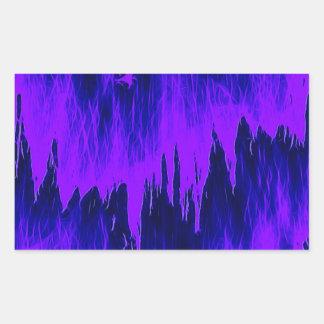Ducha azul pegatina rectangular