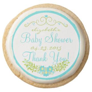 Ducha de bebé azul del huevo del petirrojo floral