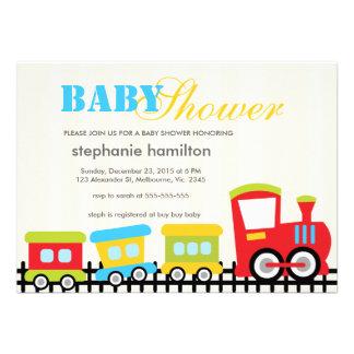 Ducha de encargo del bebé del tren del transporte