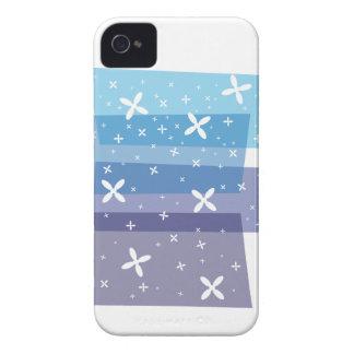 Ducha de la flor - azul Case-Mate iPhone 4 cárcasas