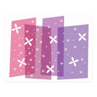 Ducha de la flor - púrpura tarjeta postal