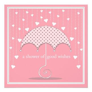 Ducha de la invitación nupcial de la ducha del ros