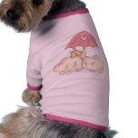 Ducha de la niña ropa de perro