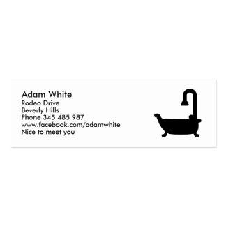 Ducha de la tina de baño tarjetas de visita mini