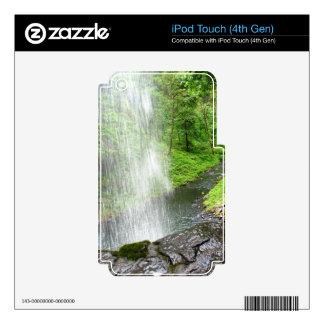 Ducha de las naturalezas skins para iPod touch 4G