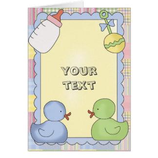 Ducha de las tarjetas del bebé, Congrats, gracias,