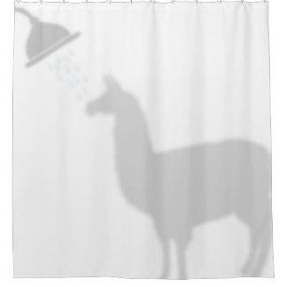 Ducha de los compinches de la sombra de la silueta cortina de baño