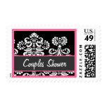 Ducha de los pares - damasco rosado blanco negro sello