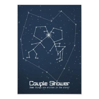"""Ducha de los pares de la constelación del amor invitación 5"""" x 7"""""""