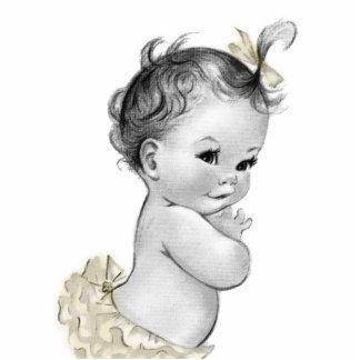 Ducha de marfil dulce de la niña del vintage esculturas fotograficas