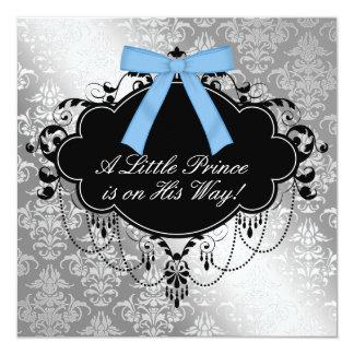 Ducha de plata del príncipe bebé del negro azul