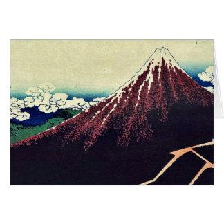 Ducha debajo de la cumbre por Katsushika, Hokusai Felicitación