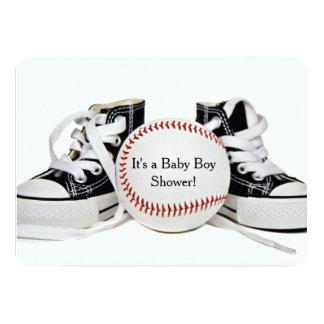 """Ducha del béisbol del bebé invitación 5"""" x 7"""""""