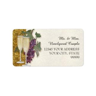 Ducha del boda del fiesta de la degustación de etiquetas de dirección