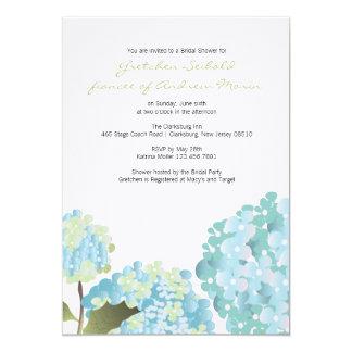 """Ducha del boda del Hydrangea Invitación 5"""" X 7"""""""