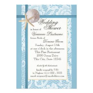 Ducha del boda del tema del océano comunicado personal