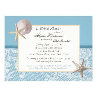 Ducha del boda del tema del océano anuncio personalizado