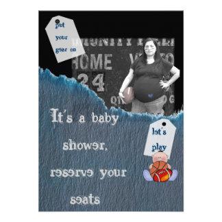 ducha del Muchacho-bebé Invitación Personalizada