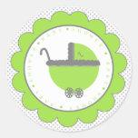 Ducha del Punto-Bebé de la polca de la verde lima