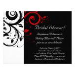 Ducha del remolino negro, blanco, rojo/general nup invitaciones personalizada