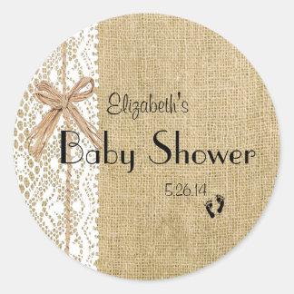 Ducha-Favor del bebé de la imagen de la arpillera