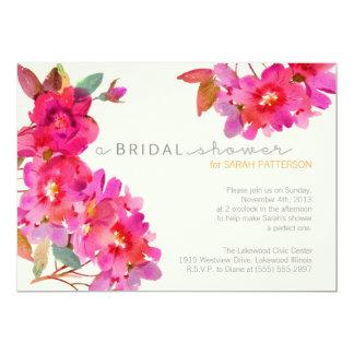 Ducha floral de la acuarela invitación 12,7 x 17,8 cm